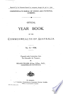 Official Year Book Of The Commonwealth Of Australia No 31 1938
