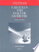Student's solutions manual to accompany Stein/Barcellos Calculus and analytic geometry