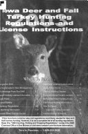 Iowa Deer and Fall Turkey Hunting Regulations and License Instructions