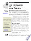 Forest Stewardship Series 19  Laws and Regulations       Timber Harvesting Book