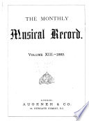 The Monthly Musical Record Book PDF