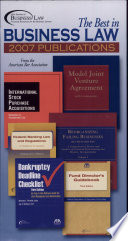 The Best in Business Law 2007 Publications