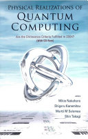 Pdf Physical Realizations of Quantum Computing Telecharger