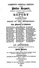 Pdf Report from the Committee on the state of the Police of the Metropolis
