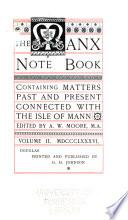 Manx Note Book Book
