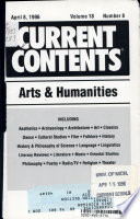 CURRENT CONTENTS: ARTS AND HUMANITIES