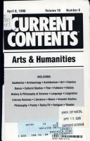 Current Contents Arts And Humanities
