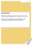 Marketing Management Von Sportvereinen Theoretische Grundlegung