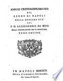 1805-Alessandro di Meo-Annali Critico-Diplomatici Del Regno Di Napoli Della Mezzana Età, Volume 10[Bayerische Staatsbibliothek (BSB) in München]