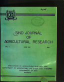 Sind Journal of Agricultural Research