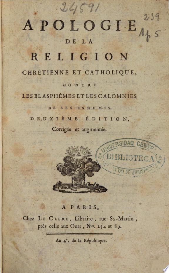 Apologie de la religion chrétienne