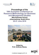 ECRM 2019   Proceedings of the 18th European Conference on Research Methodology for Business and Management Studies