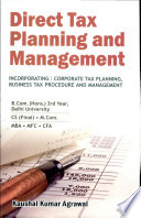 Direct Tax Planning and Management