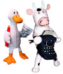 Click  Clack  Moo Cow   Duck Puppet Set