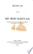 Memoir of the Rev  Henry Martyn