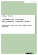Third Millennium Transcultural Management And Leadership - Volume II