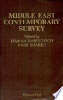 Middle East Contemporary Survey, Volume X, 1986