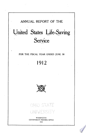 Read Online Annual Report of the United States Life-Saving Service Full Book