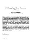 A Bibliography Of Library Resources On Women