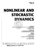 Nonlinear And Stochastic Dynamics Book PDF