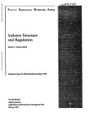 Industry Structure and Regulation
