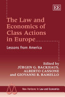 The Law and Economics of Class Actions in Europe Pdf/ePub eBook
