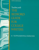 Teaching With the Bedford Guide for College Writers