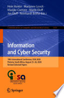Information and Cyber Security