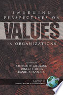 Emerging Perspectives on Values in Organizations