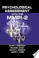 Psychological assessment with the mmpi 2 alan f friedman psychological assessment with the mmpi 2 fandeluxe Image collections