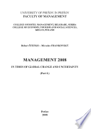 Proceedings of the Management 2008 conference In Times of Global Change and Uncertainity Book