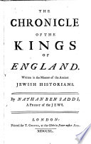 The chronicle of the kings of England  written in the manner of the ancient Jewish historians