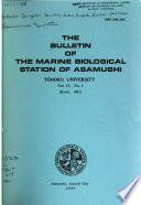 Bulletin of the Marine Biological Station of Asamushi, Tôhoku University
