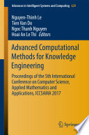 Advanced Computational Methods for Knowledge Engineering Book