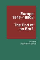 Europe 1945–1990s Book