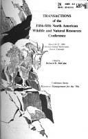 Transactions of the     North American Wildlife and Natural Resources Conference