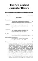 The New Zealand Journal of History Book
