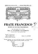 Frate Francesco organo ufficiale del Comitato religioso per le onoranze a s. Francesco di Assisi nel 7. centenario della sua morte