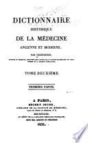 Dictionnaire historique de la médecine, ancienne et moderne