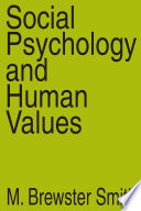 Social Psychology And Human Values