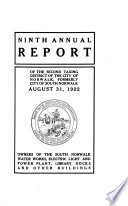 Annual Report of the Second Taxing District of the City of Norwalk  Formerly the City of South Norwalk     Book