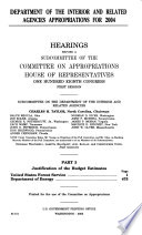 Department of the Interior and related agencies appropriations for 2004 Book