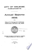 Annual Reports, with Mayor's Inaugural Address