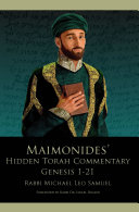 Maimonides    Hidden Torah Commentary    Volume I     Genesis 1 21
