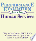 Performance Evaluation in the Human Services Book