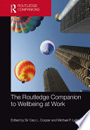 The Routledge Companion to Wellbeing at Work Book