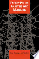 Energy Policy Analysis and Modelling Book