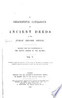 A Descriptive Catalogue of Ancient Deeds in the Public Record Office: Series A, 10427-13672