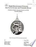 Rapid Bioassessment Protocols for Use in Wadeable Streams and Rivers