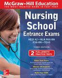 link to Nursing school entrance exams : HESI A2, NLN PAX-RN, PSB-RN, TEAS in the TCC library catalog
